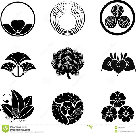 Japanese Family Crests stock vector