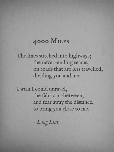 15 Truly Inspiring Short Poems About Long Distance