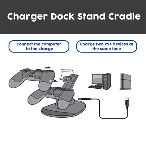 NEW LED Dual USB Charging Charger Dock Stand Cradle