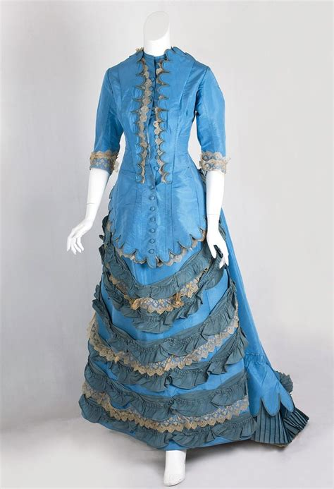 Taffeta bustle dress from the Lincoln Hill estate, 1870s