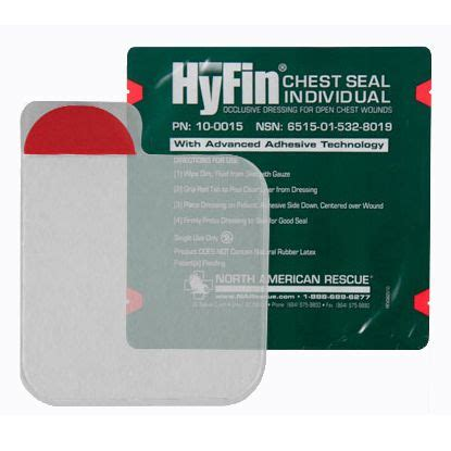 HyFin Chest Seal, Individual | Chinook Medical Gear