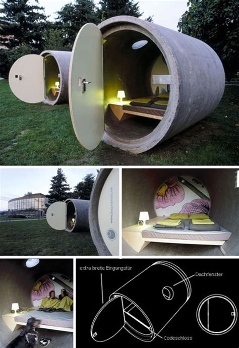 Tube Hotel: Stacked Sewer Pipes take Hostel to New Heights