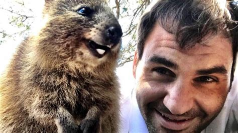 Roger Federer poses for cute pic with Australian marsupial