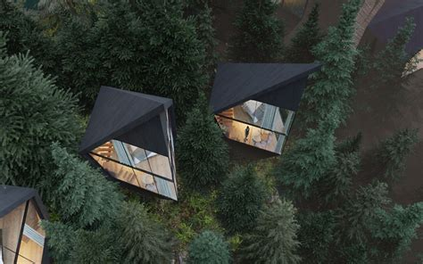Architect Designs Sustainable Futuristic Tree Houses In