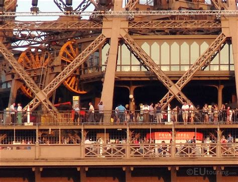 Close Up Photo Of Viewing Platforms On The Eiffel Tower