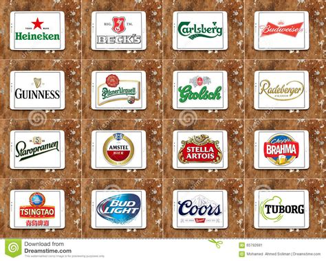 Top Famous Beer Brands And Logos Editorial Photo - Image
