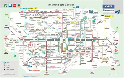Munich Metro and Tram (S and U-Bahn) - Maplets