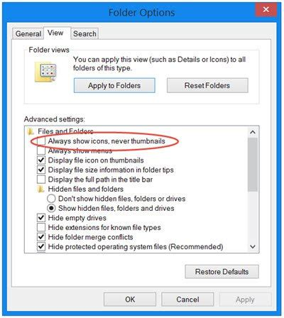 Thumbnail Previews not showing in Windows File Explorer