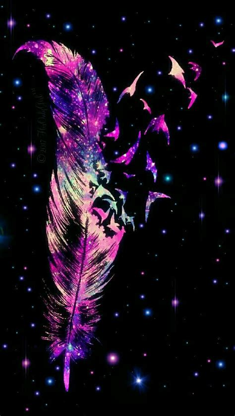 Sparkle feather galaxy iPhone/Android wallpaper I created