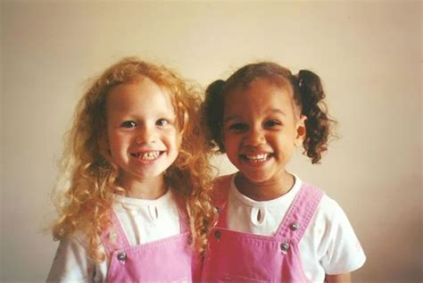 Black & White: Meet Non-Identical Twins Lucy and Maria