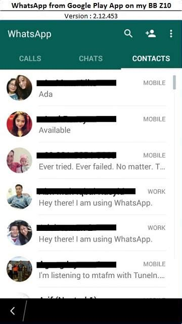 Android Whatsapp on BlackBerry 10 - BlackBerry Forums at