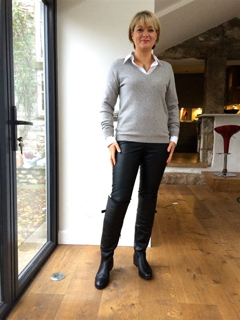 Faux leather leggings over 40 - yes or no? - Midlifechic