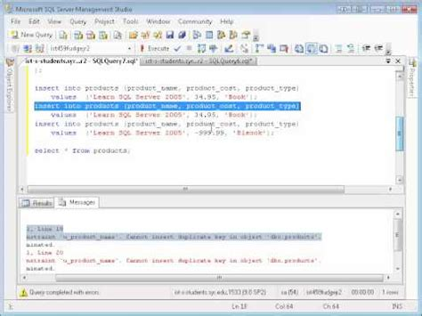 SQL Basics: Table creation and inserting data - YouTube