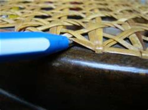 Repair of caned chairs and rocking chairs by DIY (Do It