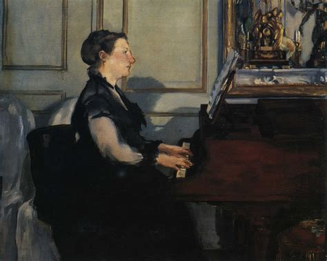 Madame Manet at the Piano, 1868 - Edouard Manet - WikiArt