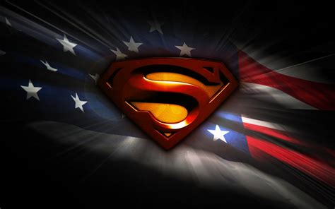 Wallpaper Superman, Flag of the United States, USA