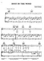 Kansas - Dust In The Wind - Free Downloadable Sheet Music
