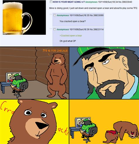 Cracked open a bear   4chan   Know Your Meme