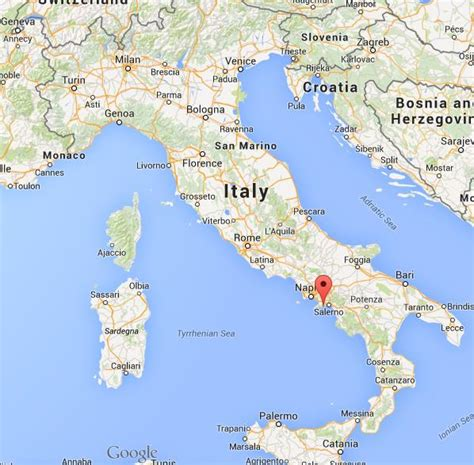 Where is Amalfi on map of Italy