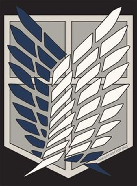 The survey corps logo (wings of freedom) | attack on titan