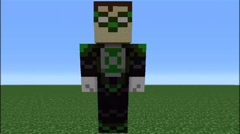 Minecraft 360: How To Make A Green Lantern Statue - YouTube