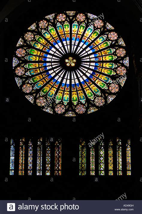 Rose window of Cathedral of our Lady of Strasbourg